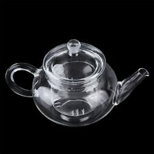 @A_Heat Resistan Glass Teapot With Infuser Coffee Tea Leaf Herbal Pot 250ml