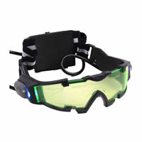 Night Vision Goggles Glasses Eyeshield Green Lens Adjustable Elastic Band