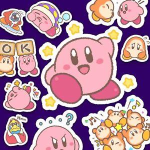 Kirby Puffball Stickers, Nintendo Stickers, Video Game Stickers, Kawaii Stickers