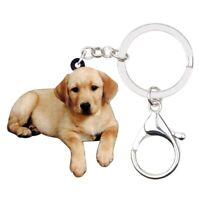 Labrador Retriever Puppy Dog Acrylic Keychain