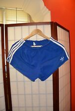 Adidas 70's Cotton 100 %  !! blue football running shorts Rare