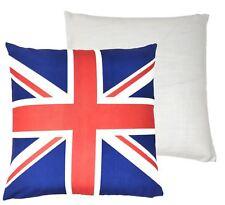 Relleno Blanco Rojo Azul Bandera Reino Unido Cojín Estampado 43 cm x 43cm