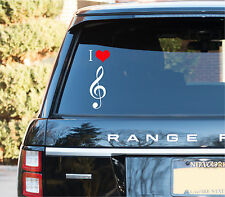 I love Music Vinyl Decal Stickers Car truck Window Stickers Love Music