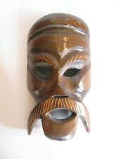 Ältere Holzmaske aus Afrika Troppenholz hand-geschnitzt 27 cm hoch