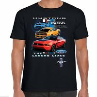 Mens Ford Mustang T Shirt Licenced Genuine Classic American Boss 302 Muscle Car