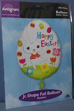 """PALLONCINO UOVO PASQUA Happy Easter 18"""" 45 cm diam. in Mylar FESTA PARTY AUGURI"""