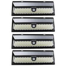 4 Pack 86 LED Solar Power Motion Sensor Wall Light Outdoor Garden Lamp Black
