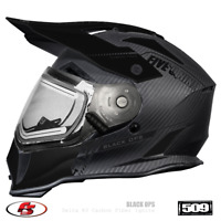 New 2021 509 Delta R3 Carbon Fiber Ignite Snowmobile Helmet Black Ops XL Enduro