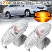 2X Side Turn Signal Lamp Fender Light 12V For Toyota Corolla Camry Yaris RAV4