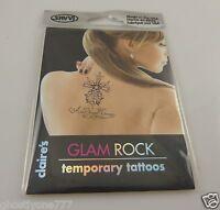 temporary tattoos body art skin Glam rock cross key crown heart more  tattoo