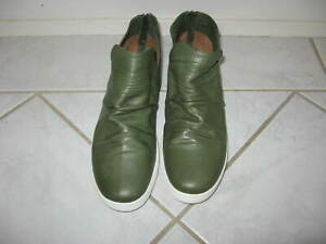 DIANA FERRARI OLIVE GREEN SOFT LEATHER ANKLE BOOTS style MARYIE size 40