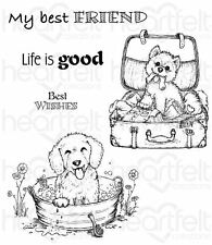 Heartfelt Creations Cling Stamp Set ~ PAMPERED POOCH ~ Puppies, Dogs ~ HCPC-3762