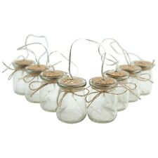 1.9m Hanging Glass Jar LED Fairy Light String Chain Wedding, Christmas, Party