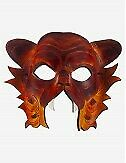 Venezianische Masken Puma Ledermaske - In Venedig Handgemacht!