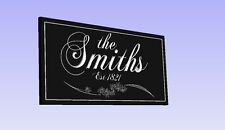 Personalized Engraved Family Name Sign