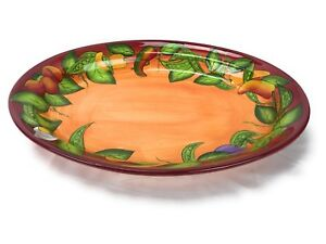 Peas in a Pod By Laurie Gates Ware Oval Serving Platter Red 19 Inches