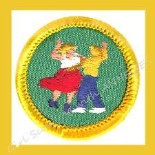 FOLK DANCING DANCER Badge NEW 1960s Cadette Girl Scout Patch Costume Multi=1 Shp