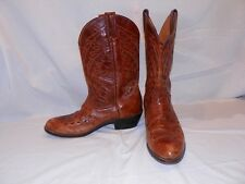 Brown Tan Leather Cowboy Western Boots Men's 10.5 M Road Wolf