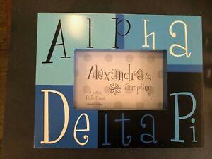 Alexandra & Co. Alpha Delta Pi Chunky Blue & Black Picture Frame 4x6 Photo