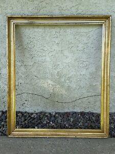 "Antique Late 19th C Hudson River Lemon Gold Gilt Frame 25""By 30"" Opening"