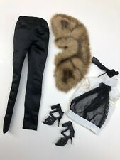 "16"" Integrity Fashion Royalty Idex Outfit Only Fur/ High Heels/ Beautiful Top"