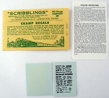 "Ho Scale Champ Decals ""Scribblings"" Decal Set - Chalk Markings for Freight Cars"