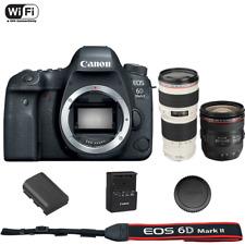 Canon EOS 6D Mark II DSLR Camera Body + 24-70mm f/4L IS USM + 70-200mm f/4L USM