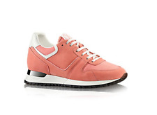 LOUIS VUITTON RUN AWAY LADIES OR MENS PINK SUEDE SNEAKER SIZE 41 NEW AUTHENTIC