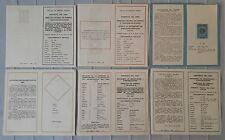 PERU lot 6 postal stamp issue advertising sheets1970 contemporaneous philatelic