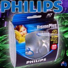PHILIPS H3 +50% HALOGEN LIGHT BULBS HEADLIGHT GLOBES NEW 12V VISIONPLUS 12336VP
