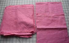 8199 14 antique 1930-40's solid pink squares for quilt blocks