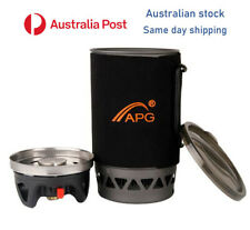 Camping Stove APG -  Boil Fast Compact Hiking Gas Stove Cooking System survival