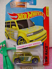 Case B/C 2015 i Hot Wheels SCION xB #144∞Trans Yellow; Gold y5 blue∞X-Raycers