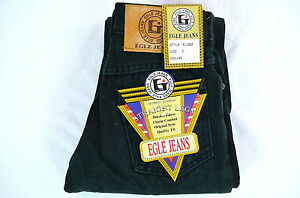 Boy's Egle jeans Classic/Straight Leg jeans Green Cotton Blend Solid Size 4-7