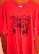 STEEL HOLLOW beat-up tee 3XL metal T shirt Quiet Desperation Pittsburgh Penn OG