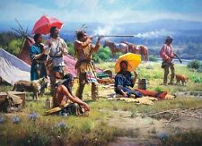 """""""Parasols and Black Powder"""" Martin Grelle Limited Edition Fine Art Giclee Canvas"""