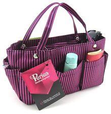 Periea handbag organiser black/pink stripes,tidy,organizer, purse insert -Tilly