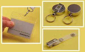 Visitor Pass Kit: Holder, Clip & Chrome YoYo