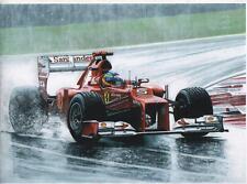 Fernando Alonso, Malaysian Grand Prix 2012, Art Print
