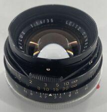Leica Leitz Canada Summilux 35mm F/1.4 Lens for Leica M RARE Vintage !!