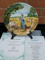 "Wedgwood Collectors Plate "" Harvest Supper"", Boxed"