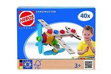 Heros  Constructor  Flugzeug  Holz-Konstruktionsset Baukasten NEU Ovp. 100039