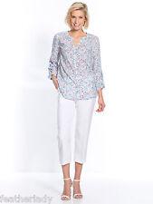 Daxon WOMANS bianco pantaloni corti con elastico in vita UK 10 EU 38 nuovi