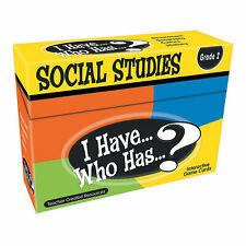 I Have Who Has Social Studies 2Nd Grade - Educational - 4 Pieces