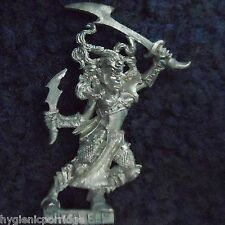 1999 Dark Elf Witch 2 Citadel Elven Army Drow Warrior Warhammer Priestess Khaine