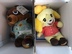 Build-a-Bear Animal Crossing New Horizons Tom Nook and Isabelle with Phrases Set