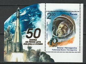 Bosnia and Herzegovina 2011 Space Astronauts Gagarin MNH Block
