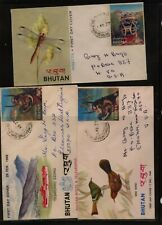 Bhutan   3   3D  stamp covers  mailed to US     MS1008
