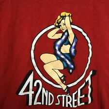 Vintage Screen Stars Single Stitch 42nd Street Pin Up T-Shirt Size L Made In USA