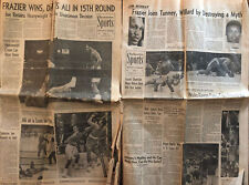 Muhammad Ali vs Joe Frazier- Original LA Times Newspaper Lot 2 Wicks UCLA